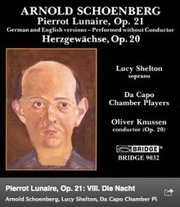 Haz click en la imagen para escuchar esta pieza de Pierrot Lunaire de SCHOENBERG
