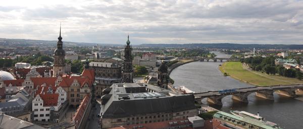 Dresde desde lo alto de la cúpula de la Frauenkirsche (foto mía)