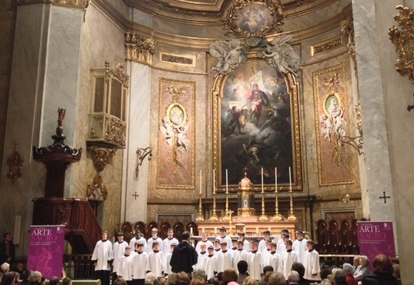 Escolanía del Monasterio del Escorial. Fotografía: mía.
